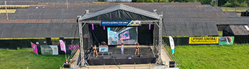 Large Outdoor Stage & Canopy for Hire